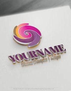 Design Free Logo: Spiral Online Logo Template