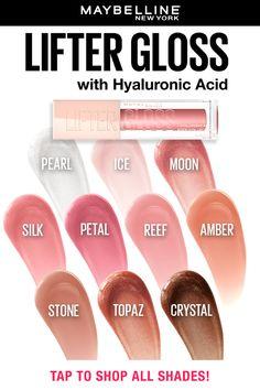 Makeup Swatches, Drugstore Makeup, Lip Makeup, Makeup Cosmetics, Beauty Makeup, Maybelline Lip Gloss, Natural Glowy Makeup, Best Lip Gloss, Lipstick For Fair Skin