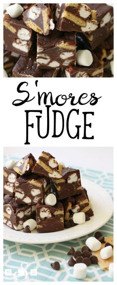 Fudge is one of the most amazing desserts. Here are 52 fudge desserts - one for each week of the year! Fudge Recipes, Candy Recipes, Sweet Recipes, Dessert Recipes, Smores Fudge Recipe, Fudge Bar, Soap Recipes, Holiday Baking, Christmas Baking