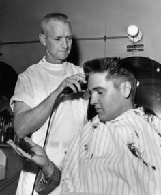 Elvis haircut for the army