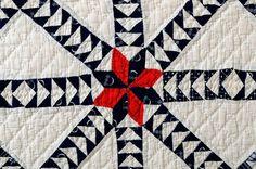 Close up of this antique quilt