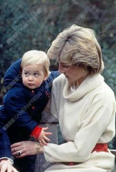 Diana and William in Kensington Gardens on December 14, 1983.