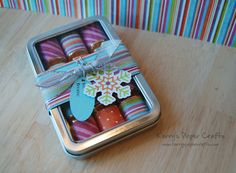 Hershey's Nugget Tins.  Could decorate for any occasion.