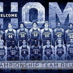 The 1978 National Championship team will be returning to Rupp Arena this weekend to celebrate the Anniversary of their incredible run. It's always good to have our guys back home. Uk Basketball, Uk Football, Go Big Blue, Blue And White, National Championship, Kentucky Wildcats, 40th Anniversary, Back Home, Legends