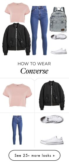 """""""Random#98776"""" by cfull on Polyvore featuring Topshop and Converse"""