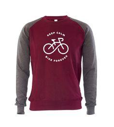 Keep Calm Bike Forever Mens Sweatshirt Jumper Bicycle Cycling Bike Cycle Gift #GET2WEAR #Jumper