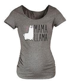 Another great find on #zulily! Athletic Heather 'Mama Llama' Maternity Scoop Neck Tee #zulilyfinds