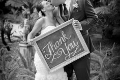 Personalize Your Celebration! Chalk Thank You sign | Wedding Chalk Art! Image by JAK images