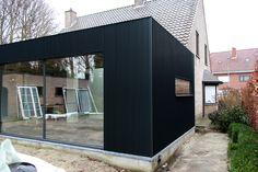 Metal Siding, Farm Barn, Cladding, Front Porch, Home And Living, Facade, House Design, Windows, Bungalows