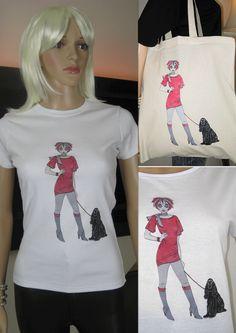 ALICE BRANDS уникальные проекты собака породы на сказочные качество женщин топы, футболки и теперь на сумками тоже. Алиса с кокер-спаниель показано на рисунке. etsy.com/uk/shop/AliceBrands ... Смотрите наш полный спектр в www.alicebrands.co.uk