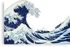 Hokusai Great Wave off Kanagawa (White Version) T- No Wave, Tumblr Stickers, Cute Stickers, Mac Stickers, Phone Stickers, Hokusai Great Wave, Wave Drawing, Vsco, Waves Wallpaper