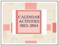 Calendar Activities 2013-2014