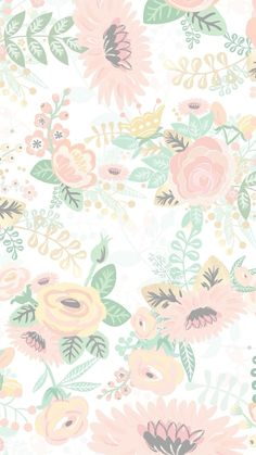 Phone Screen Wallpaper, Flower Phone Wallpaper, Wallpaper Iphone Disney, Iphone Background Wallpaper, Aesthetic Iphone Wallpaper, Vintage Flowers Wallpaper, Cute Patterns Wallpaper, Pastel Wallpaper, Apple Watch Wallpaper