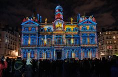 France                 The facade of a building is lit up for The Festival Of Lights in Lyon, France, on Dec. 7. The event began as a tribut...