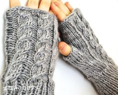 Fingerless Gloves Knitted long #gift  $19.99 Fingerless Gloves Knitted, Classy And Fabulous, Arm Warmers, Lilac, Knit Crochet, Fancy, Fashion Outfits, Knitting, My Style