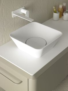 Fluent collection by Inbani. #bathroom #furniture #design #washbasin