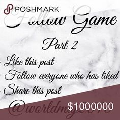 Follow Game part 2 My first follow Game went so well, better than expected. I decided to start another. Thank you everyone who made the last one so successful, lets see if we can do it again. Other