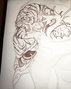 This tiger needs a home (Toronto ) #chronicink #tiger #irezumicollective #torontotattoo #vancouvertattoo