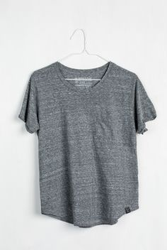 """Details We achieve that """"gotta touch it, it's so soft"""" feel thanks to a special, sustainable combination of recycled water bottles, organic cotton, and rayon. - Natural overdye process lends a high qu"""
