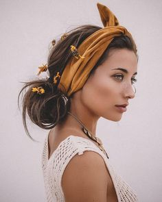 22 Bandana Hairstyles to Set Your Hair to be More Neat and Beautiful - Winter Hairstyles, Headband Hairstyles, Easy Hairstyles, Girl Hairstyles, Clubbing Hairstyles, Hairstyle Ideas, Bandana Hairstyles For Long Hair, Cute Hairstyles For Summer, Braided Hairstyle