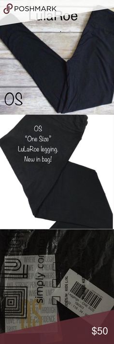 "OS ""One size""solid Black leggings. LuLaRoe I'm a NOT a consultant. I paid at or above retail. Yes, retail is $25. I prefer to bundle to sell another item with discount and not make much profit by selling these singlely, but if someone wants them single... it's their choice, right? People get angry and I'm not sure why. Why do they care if my leggings are priced at $50? Does it affect them? No! Live and let live. End rant. 😃♥️♥️♥️ *OS one Size. Buttery soft. LuLaRoe Solid Black Legging. 92…"
