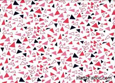 Lizzy House Outfoxed Red Multi Colored Triangles Cotton Fabric