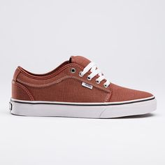 Vans Chukka Low, Washed Canvas Red $65.00