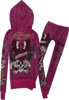 Ed Hardy Tracksuits Rockabilly Clothing, Rockabilly Outfits, Cheap Kids Clothes, Kinds Of Clothes, Ed Hardy Designs, Designer Tracksuits, Kids Outfits, Cute Outfits, Skull Fashion