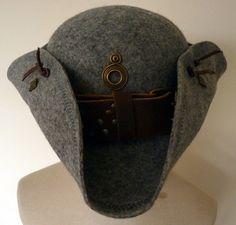Tricorn hatGrey Wool Tricorn pirate Hat by LulunaClothing on Etsy