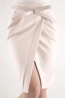 Falda tulipan drapeado en cintura