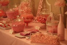 Pink Theme Baby Shower! Candy Station