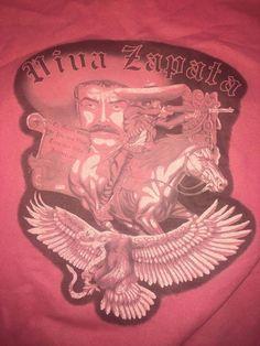 VTG 90's Lowrider art Colorblock Sweatshirt L cholo chicano Viva Zapata Mexico  #Tultex #SweatshirtCrew