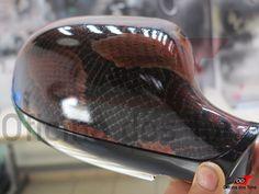 Retrovisores com Pintura Textura de Cobra.