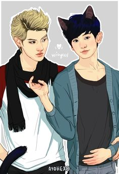 Krisyeol by bluemushyroom :D #fanart | My Fangirl Is ...