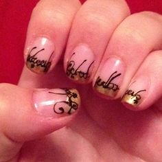 My french tip LOTR nails!! :)