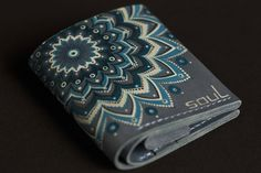 FREE SHIPPING!!! Woman's leather wallet.Minimal leather wallet. Blue leather wallet. Mandala.Compact leather purse.Original woman's wallet. by SoulLeatherCraft on Etsy