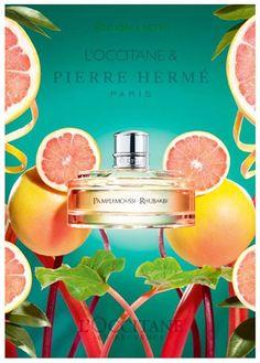 L`Occitane en Provence & Pierre Herme: Pamplemousse Rhubarbe, Jasmin Immortelle Neroli, Miel Mandarine ~ New Fragrances