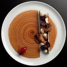 Melting Lapsong Suchong sorbet, blackcurrants, vanilla and single origin…