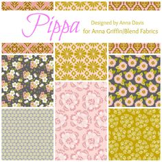 TheRibbonRetreat.com: Pippa, Designed by Anna Davis for Anna Griffin/Blend Fabrics. One of my FAVORITE fabric lines!!
