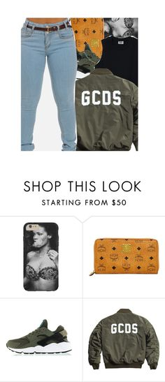 """Sans titre #375"" by lesliekabengele ❤ liked on Polyvore featuring MCM and NIKE"