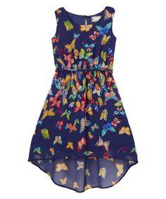 Loving this Navy Floral Hi-Low Dress on #zulily! #zulilyfinds