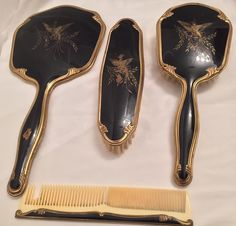A personal favorite from my Etsy shop https://www.etsy.com/ca/listing/266473561/vintage-mirror-brush-comb-dresser-set
