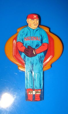 ON SALE! Vintage baseball player tin whistle pin by SuchNeatStuff on Etsy https://www.etsy.com/listing/166398230/on-sale-vintage-baseball-player-tin