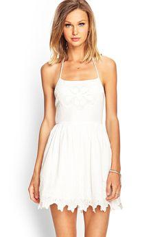 Embroidered Halter Tassel Dress | FOREVER21 #SummerForever