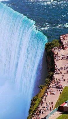 ON – Horseshoe Falls, city of Niagara Falls, Niagara region, Ontario, Canada. Niagara Falls as seen from Skylon Tower at 5200 Robinson St. in the city of Niagara Falls. Places To Travel, Places To See, Travel Destinations, Scary Places, Travel Things, Travel Stuff, Dream Vacations, Vacation Spots, Mini Vacation
