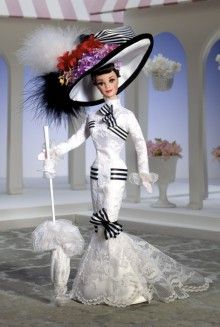 Barbie as Audrey Hepburn in My Fair Lady