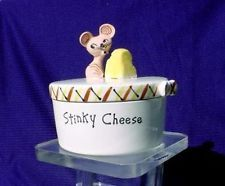 Vintage Holt Howard Japan STINKY CHEESE Covered DISH anthropomorphic mouse