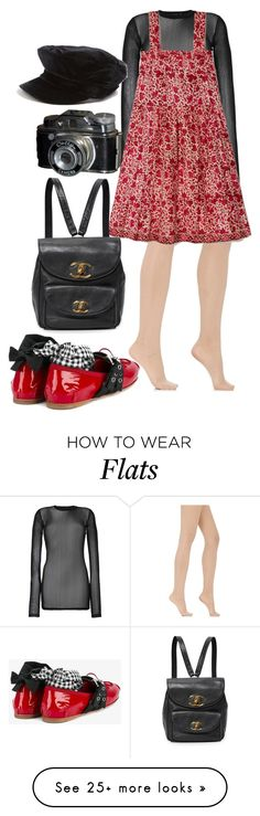 """""""Untitled #1305"""" by veronice-lopez on Polyvore featuring BLK DNM, Wolford, Miu Miu, Topshop and MyVLoutfit"""