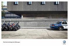 Volkswagen: Park Assist Technology, Bikers-Police