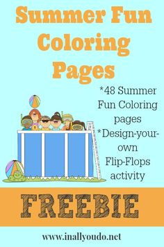 Summer Fun Coloring Pages FREEBIE